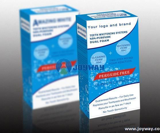 Non-peroxide dual-foam system